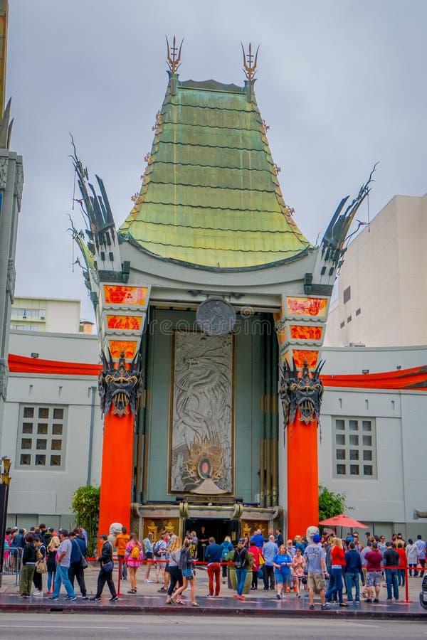Los Angeles, Californië, de V.S., 15 JUNI, 2018: Het historische Chinese Theater van Grauman ` s in Los Angeles, CA Geopend in 19 stock fotografie