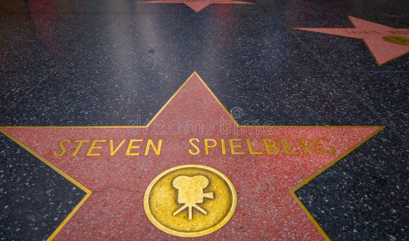 Los Angeles, Californië, de V.S., 15 JUNI, 2018: Steven Spielberg-de ster op de Hollywood-Gang van Bekendheid, wordt samengesteld royalty-vrije stock foto