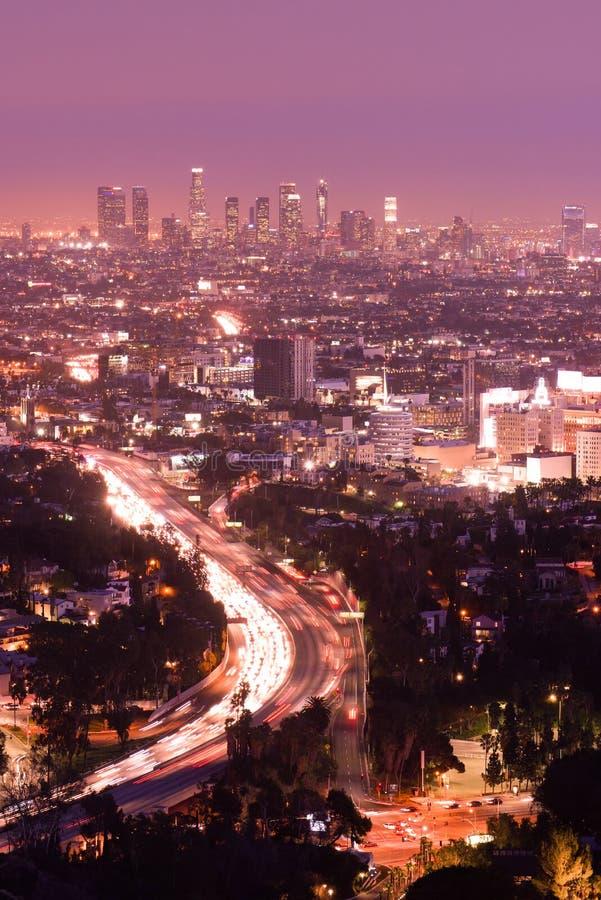 Los Angeles. California City Skyline royalty free stock photo