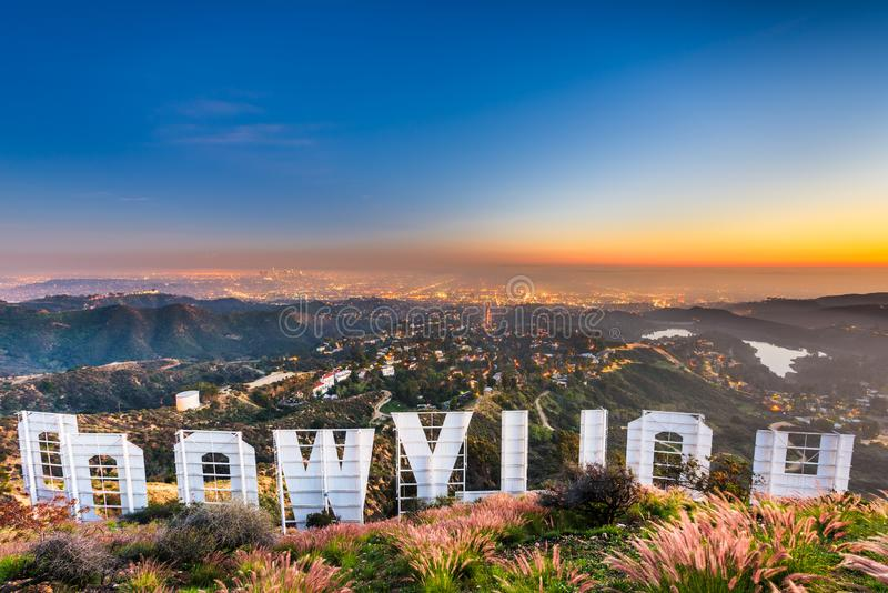 Hollywood Sign in California stock image