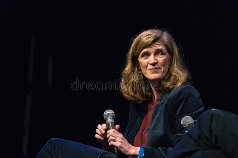 Former US Ambassador Samantha Power royalty free stock photo