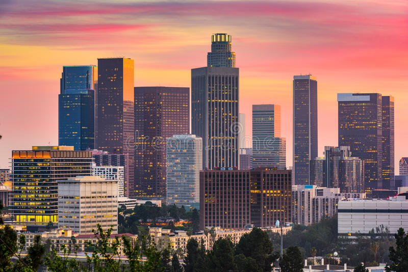 Los Angeles, California Skyline royalty free stock photo