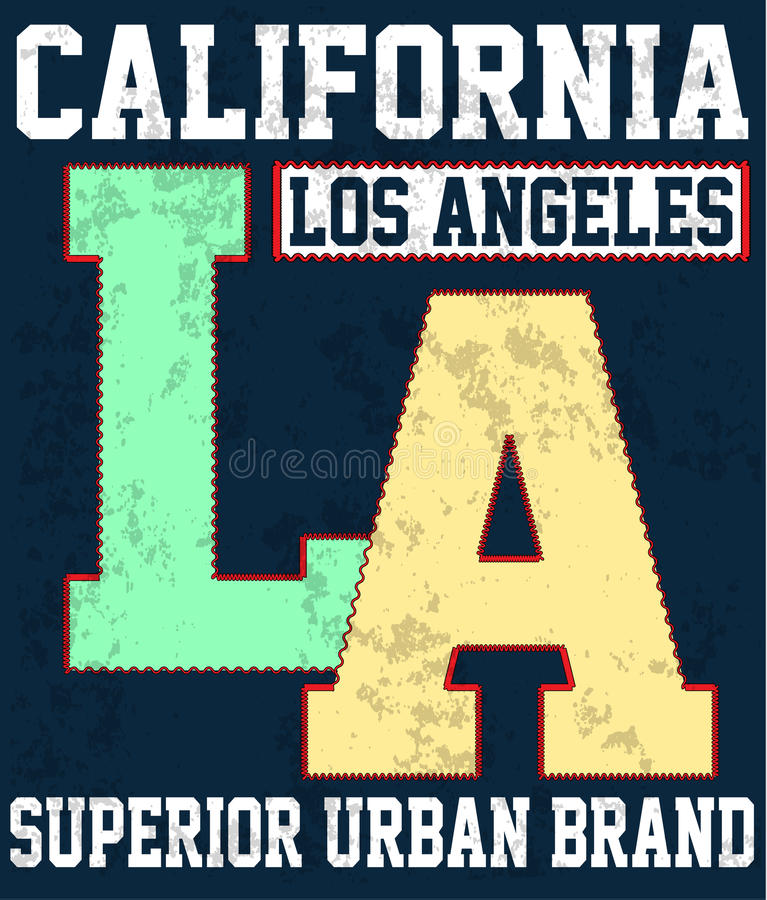 Los Angeles, California typography for t-shirt print , vector il vector illustration