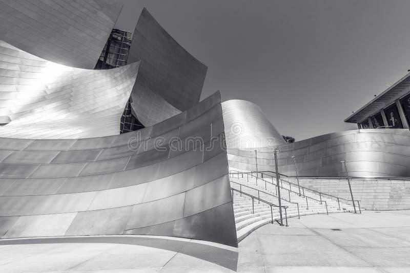 LOS ANGELES, California, U.S.A. - 13 giugno 2017: Walt Disney Concert Hall a Los Angeles del centro progettato da Frank Gehry, ca fotografie stock