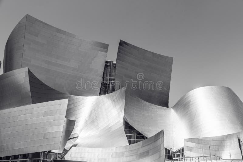 LOS ANGELES, California, U.S.A. - 13 giugno 2017: Walt Disney Concert Hall a Los Angeles del centro progettato da Frank Gehry, ca immagine stock