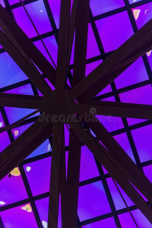 Front Entry Plaza of the California Science Center in Los Angeles. stock photography