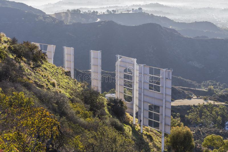 Hollywood Sign Griffith Park Morning View stock photo