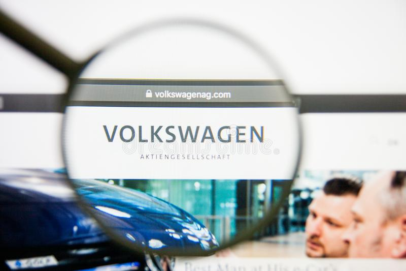 Los Angeles, California, USA - 14 February 2019: Volkswagen Group website homepage. Volkswagen Group logo visible on royalty free stock photography