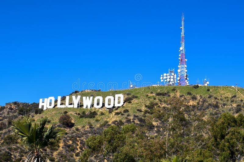 Los Angeles, California, USA - January 4, 2019: The world famous landmark Hollywood Sign royalty free stock image