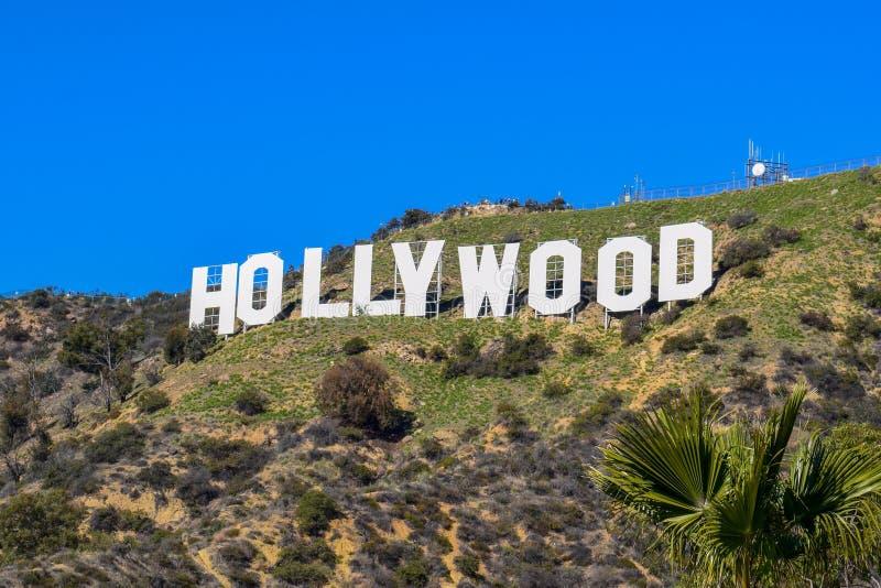 Los Angeles, California, USA - January 4, 2019: The world famous landmark Hollywood Sign stock image