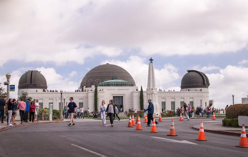 Astronomical Observatory of Griffith in Griffith Park. Los Angeles Tourist Attractions stock images