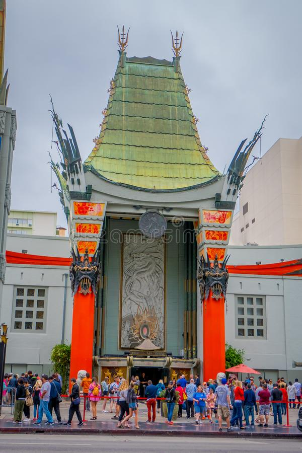 Los Angeles, California, USA, JUNE, 15, 2018: Historic Grauman`s Chinese Theater in Los Angeles, CA. Opened in 1922 this. Hollywood landmark is on the Hollywood stock photography