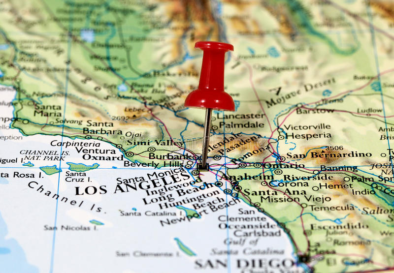 Los Angeles In California, USA Stock Photo - Image of plan ...