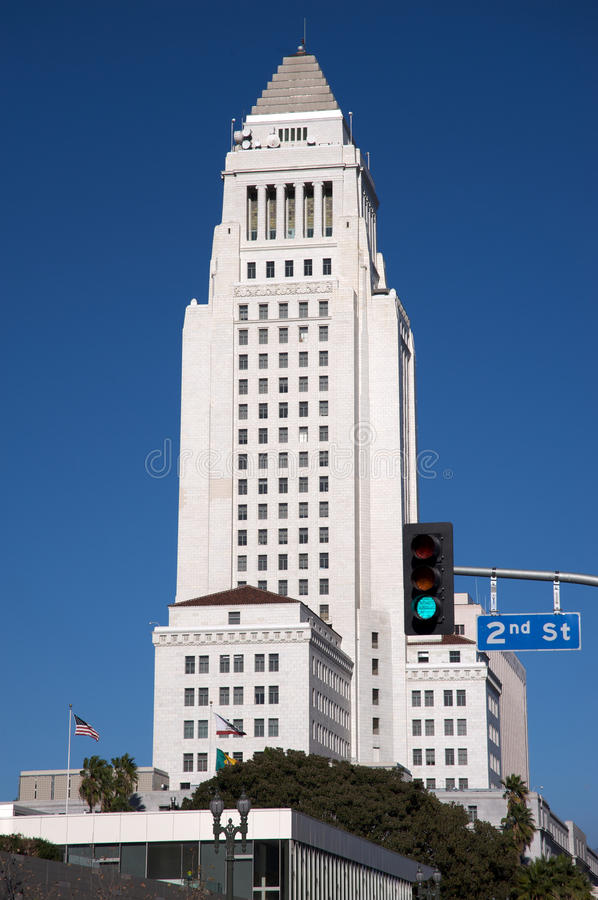Download Los Angeles City Hall stock photo. Image of hall, angeles - 12271274