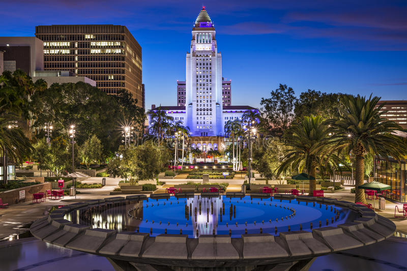 Download Los Angeles City Hall stock image. Image of location - 38023395