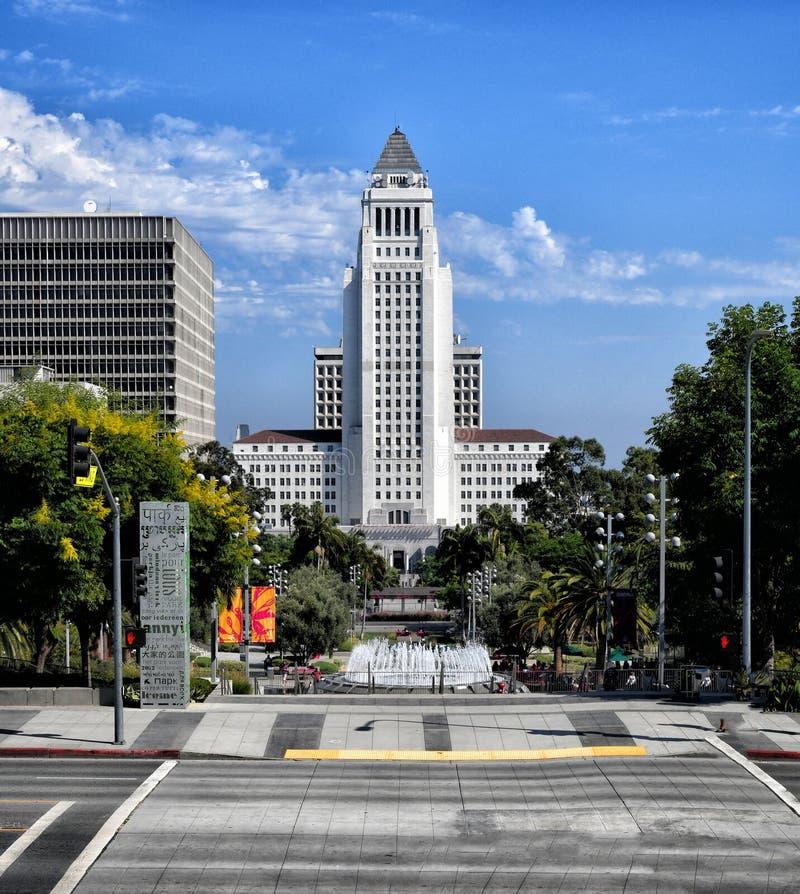Los Angeles City hall fotografering för bildbyråer