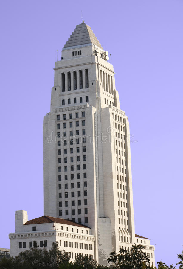 Los Angeles City Hall building stock image