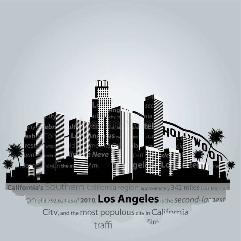 Los Angeles city silhouette. vector illustration