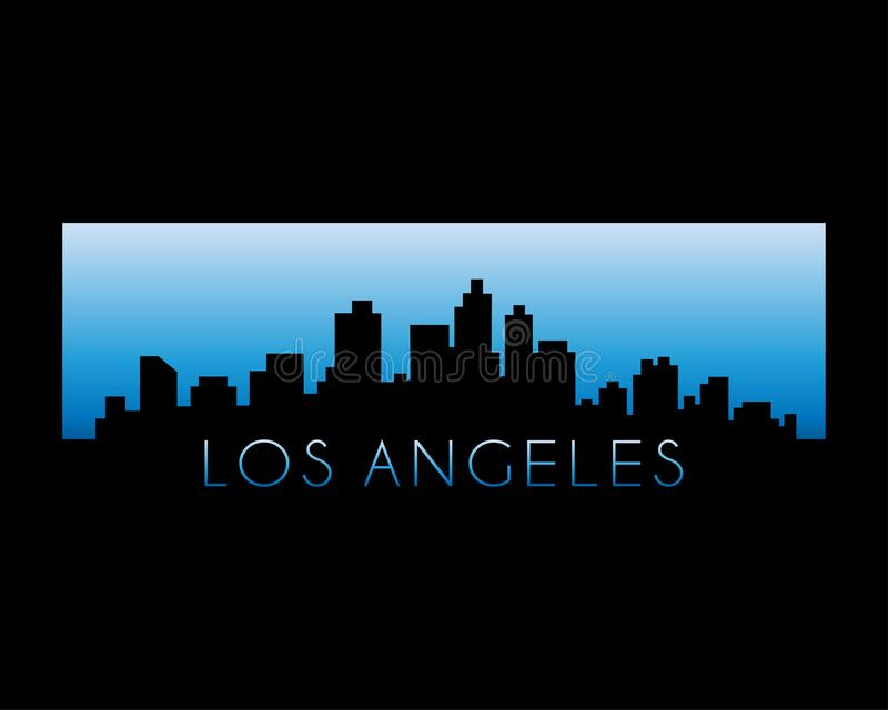 Los angeles city skyline vector illustration royalty free stock images