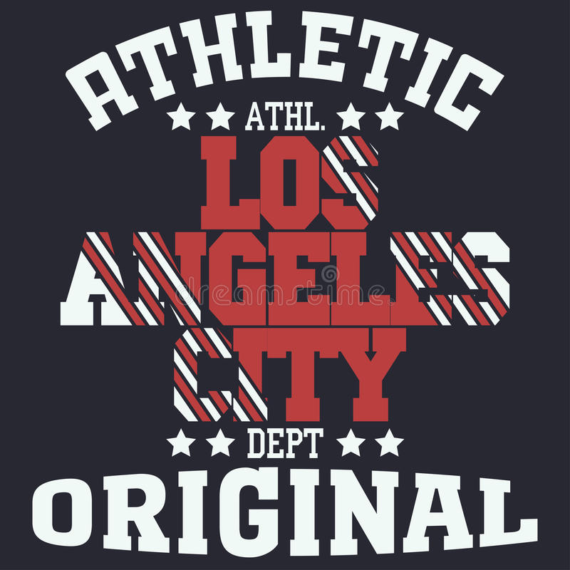 Los Angeles. College fashion design print for t-shirt Los Angeles. California Sport Typography, vintage Vector vector illustration