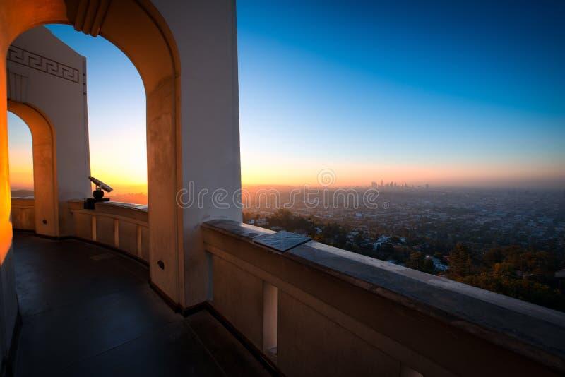 Los Angeles come visto da Griffith Observatory fotografia stock libera da diritti