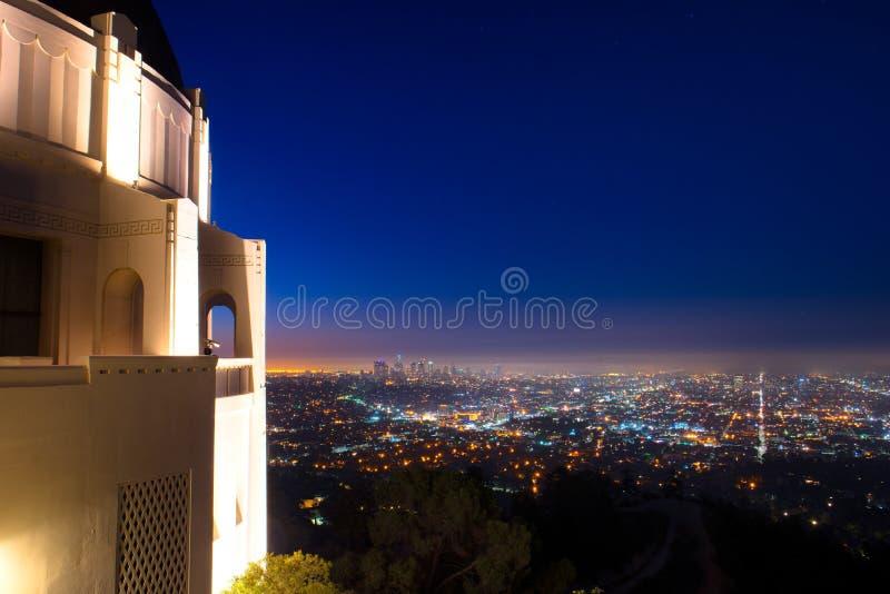 Los Angeles como visto de Griffith Observatory imagens de stock