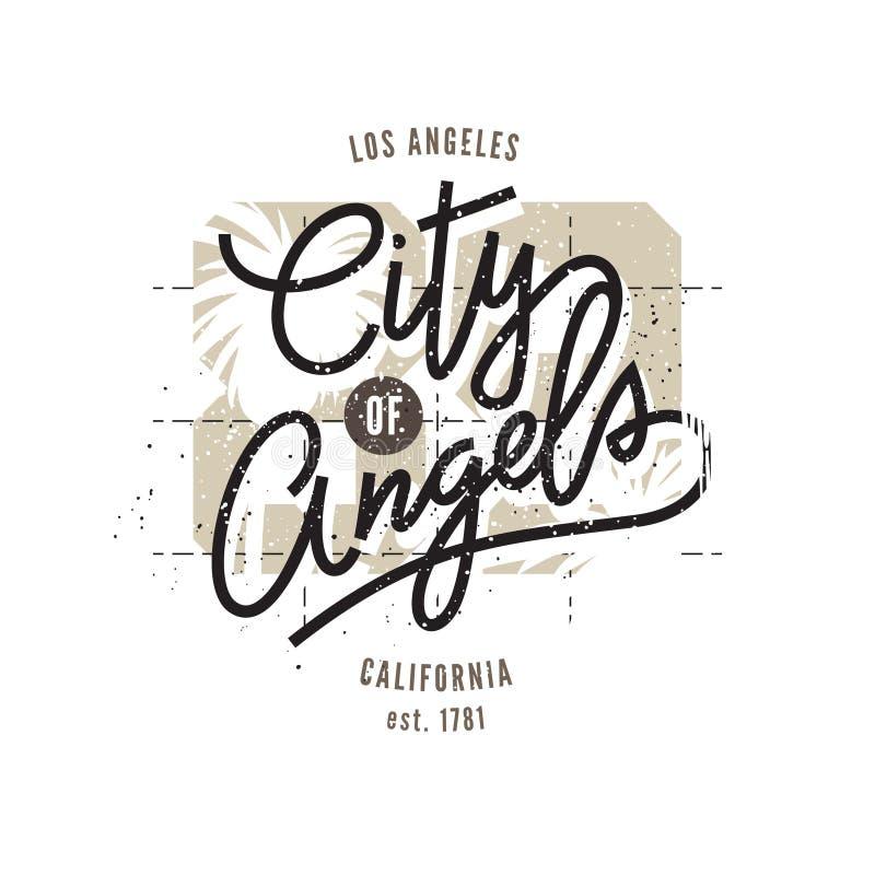 Los Angeles, copie typographique illustration de vecteur