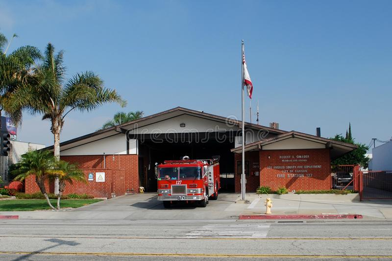 LOS ANGELES COUNTY CALIFORNIA FIRE STATION 127 royalty free stock images