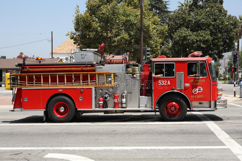 Los Angeles County Fire Truck stock image