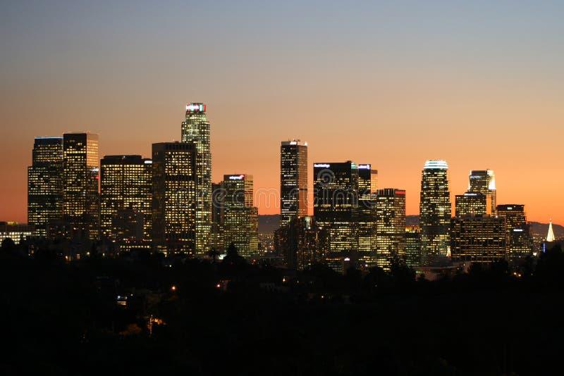 Los Angeles da baixa no crepúsculo #5 imagem de stock