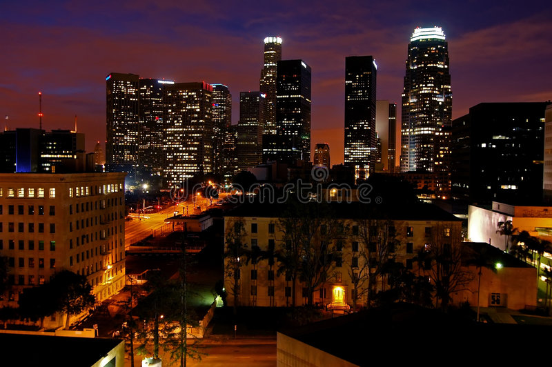 Los Angeles in Dawn stock foto