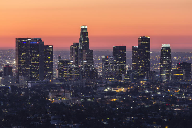 Download Los Angeles Before Dawn editorial photography. Image of urban - 34887357