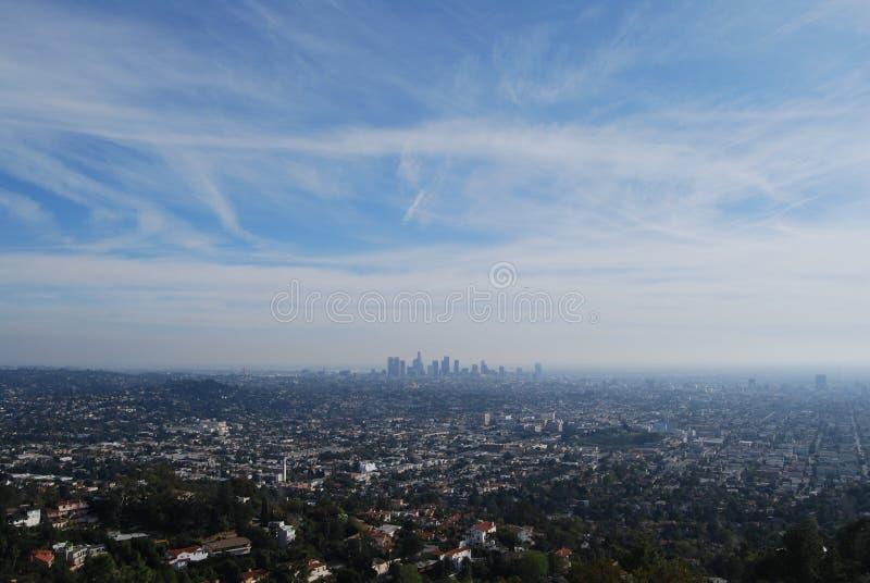 Los Angeles de longe imagem de stock royalty free