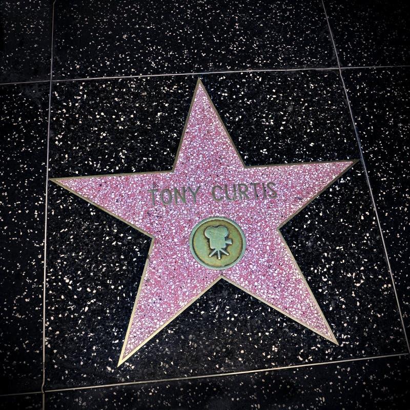 Estrela de Tony Curtis na caminhada da fama, Los Angeles de Hollywood, unida fotografia de stock royalty free