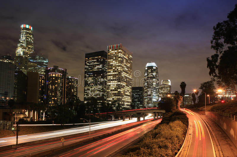 Los Angeles, de stad in. stock afbeelding