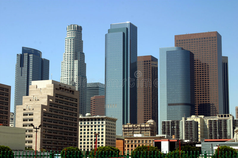 Los Angeles, de stad in royalty-vrije stock afbeelding