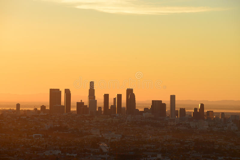 Los Angeles de stad in royalty-vrije stock foto