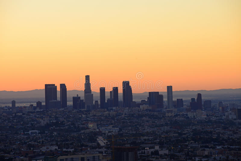 Los Angeles de stad in stock foto's