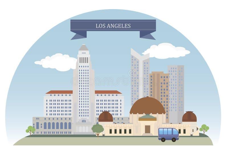 Los Angeles, de V stock illustratie