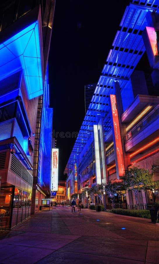 Los Angeles, de V.S. - 20 van Januari 2013: Microsoft-Vierkant royalty-vrije stock afbeeldingen