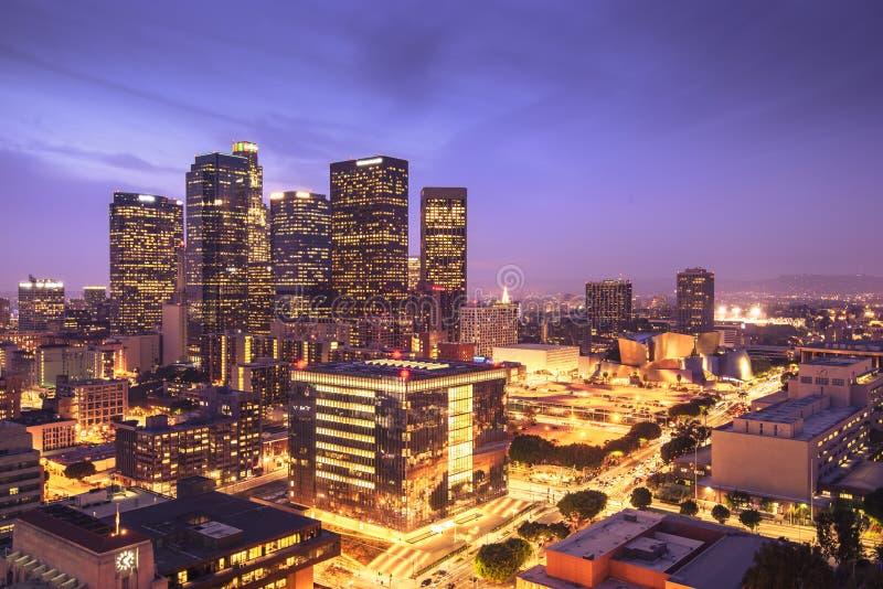 Los Angeles del centro al crepuscolo #6 fotografia stock libera da diritti