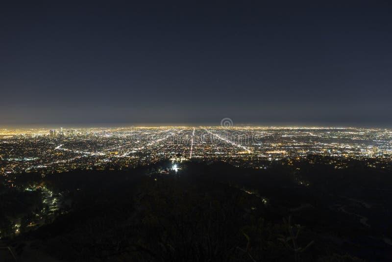 Los Angeles disig natt royaltyfri bild