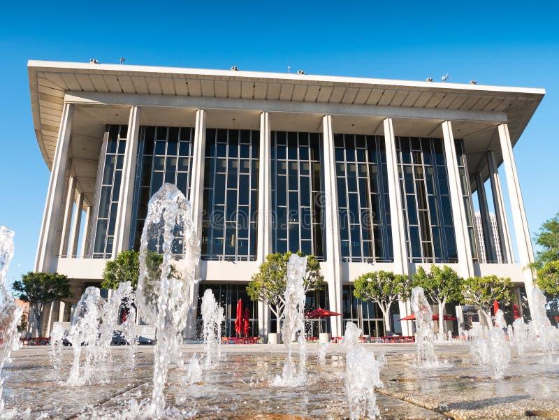 Los Angeles do centro Dorothy Chandler Pavilion & centro de música imagens de stock royalty free