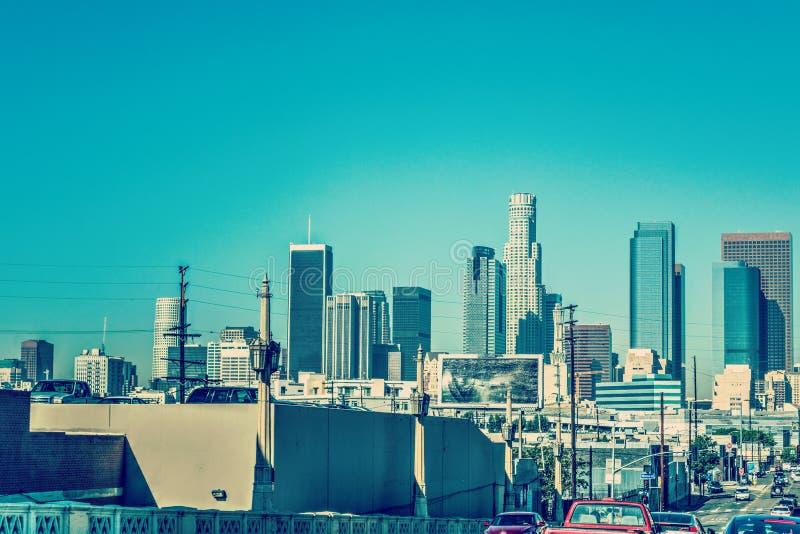 Los Angeles do centro em um dia claro imagem de stock