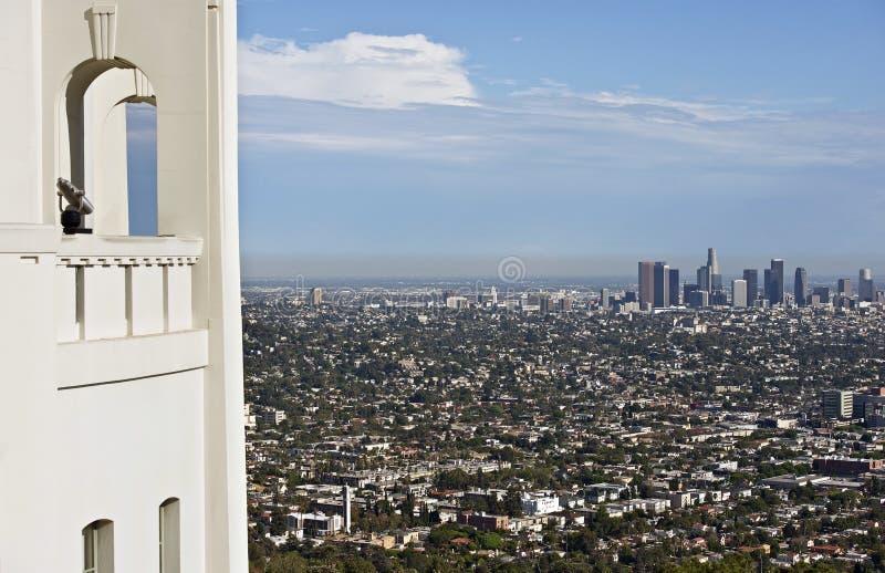 Los Angeles donnent sur photo libre de droits