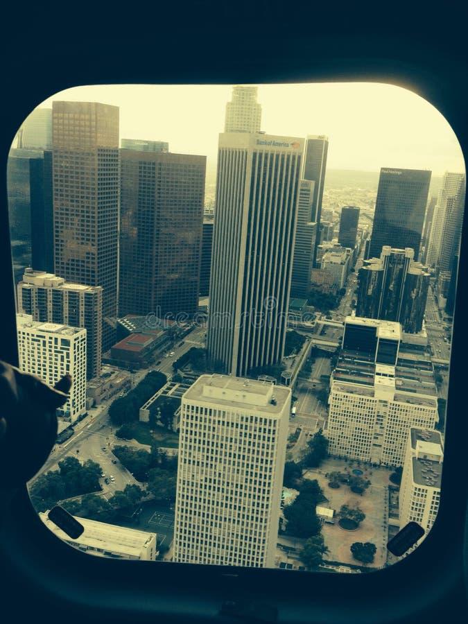 Los Angeles door Helikopter royalty-vrije stock afbeelding