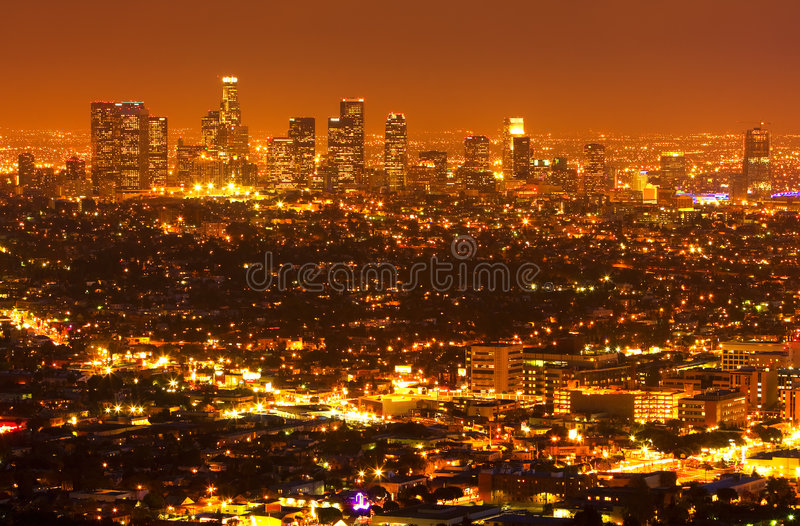 Download Los Angeles Down Town stock photo. Image of beautiful - 9292112