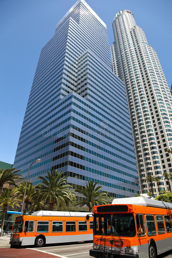 Download Los Angeles Downtown stock photo. Image of 1080p, tower - 26640566