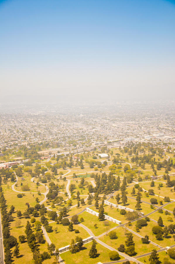 Download Los Angeles Downtown, Bird's Eye View At Sunny Day Stock Photo - Image: 25248540