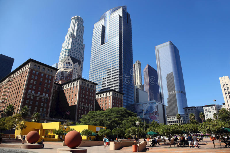 Download Los Angeles Downtown stock image. Image of structure - 34508631
